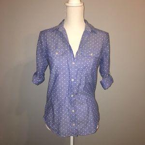 Express Slim Fit Portofino Shirt Denim in Color